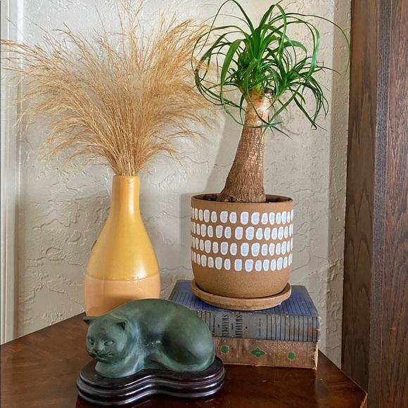 Spotted Ceramic Planter w Saucer NWT